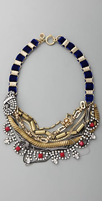 Juicy Couture Layered Velvet Drama Torsade Necklace