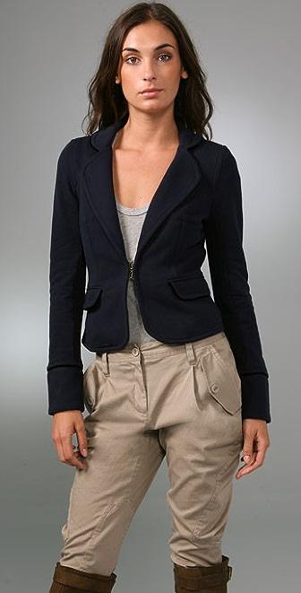 Juicy Couture Shrunken Blazer with Velvet Piping