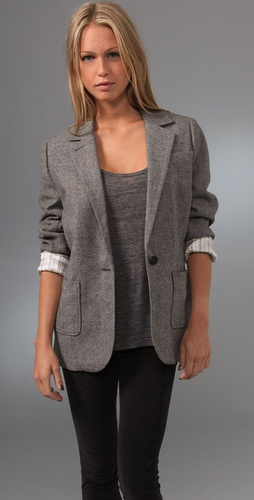 Juicy Couture Flecked Tweed Blazer