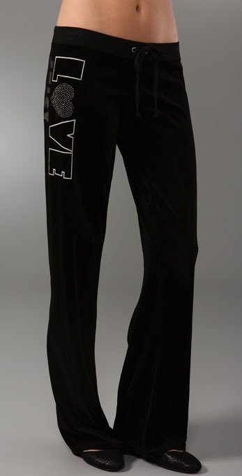 Juicy Couture Original Leg Velour Pants