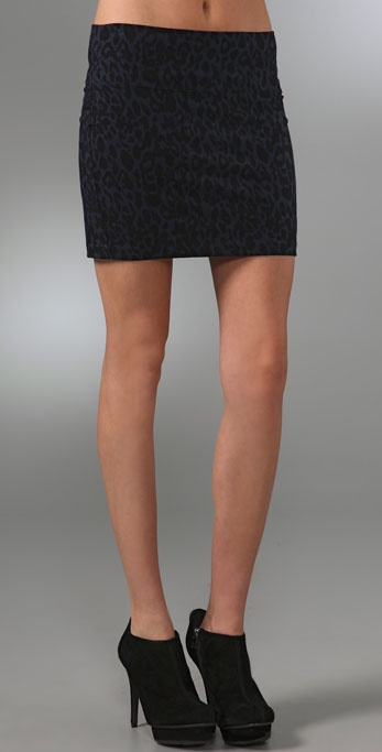 Juicy Couture Leopard Print Miniskirt