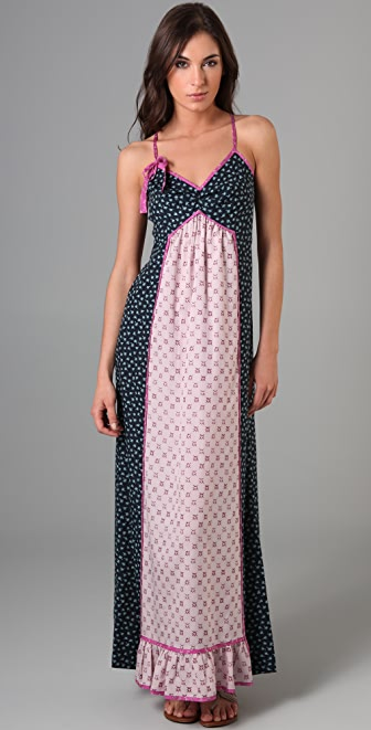 Juicy Couture Ditzy Garden Patchwork Maxi Dress
