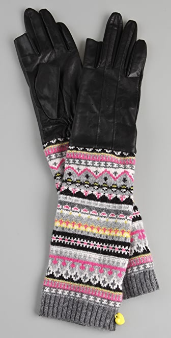 Juicy Couture TXT Me Leather Gloves