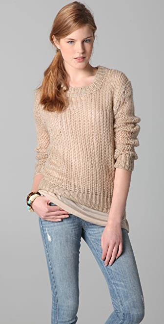Juicy Couture Crew Neck Mohair Pullover