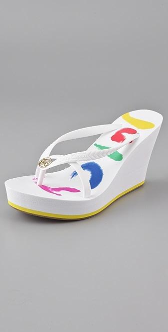 Juicy Couture Lisa Wedge Flip Flops