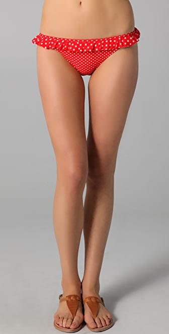 Juicy Couture Pretty Polka Ruffle Flirt Bikini Bottoms
