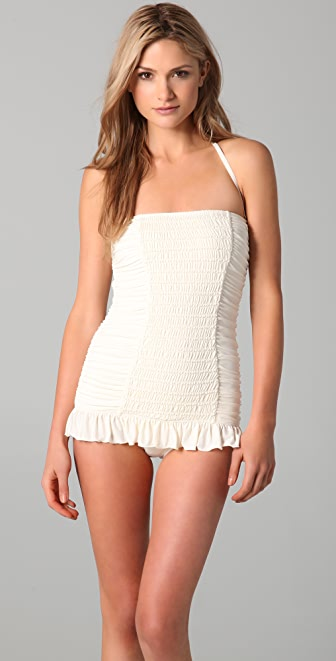 Juicy Couture Starlet Smocked Bandeau Swimdress