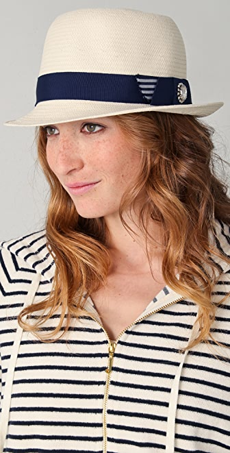Juicy Couture Straw Bowler Hat