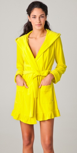 Juicy Couture Relaxed & Ready Velour Robe