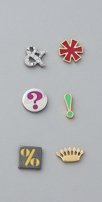 Juicy Couture Mismatched Symbols Studs
