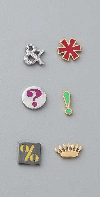 Juicy Couture Mismatched Symbols Studs