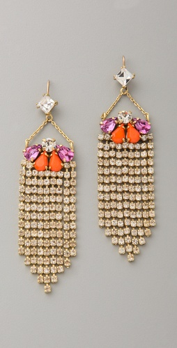 Juicy Couture Fringe Earrings