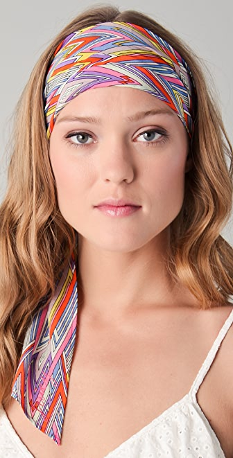 Juicy Couture Silk Headband with Tie