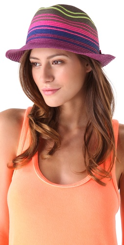 Juicy Couture Thin Striped Fedora with Bow