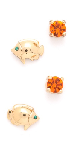 Juicy Couture Fish Stud Earrings Duo