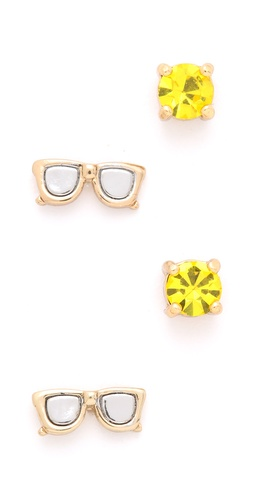 Juicy Couture Sunglasses Stud Earrings Duo
