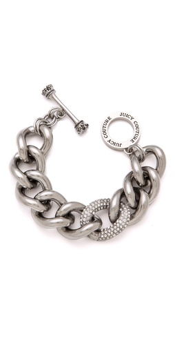Juicy Couture Pave Link Bracelet