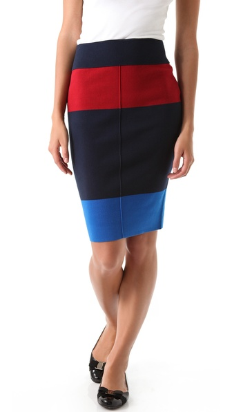 Juicy Couture Colorblock Pencil Skirt