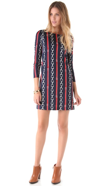 Juicy Couture Print 3/4 Sleeve Dress