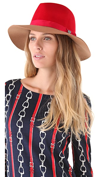 Juicy Couture Colorblocked Floppy Fedora