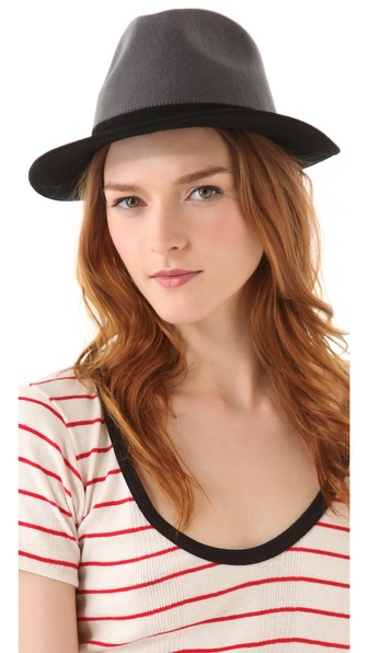 Juicy Couture Two Toned Cropped Fedora