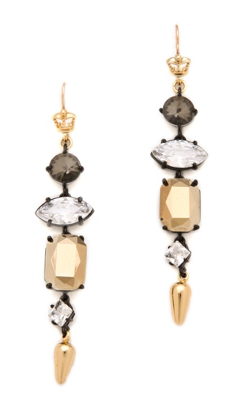 Juicy Couture Rhinestone Linear Earrings