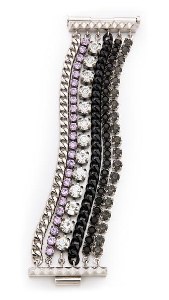 Juicy Couture Rhinestone Multi Layer Bracelet