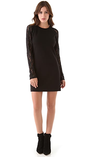 Juicy Couture Raglan Lace Sleeve Dress