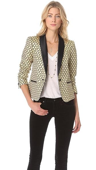 Juicy Couture Palladium Brocade Blazer