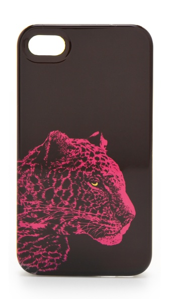 Juicy Couture Wander Far Stay Close Snow Leopard iPhone Case