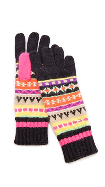 Juicy Couture Angora Fair Isle Gloves