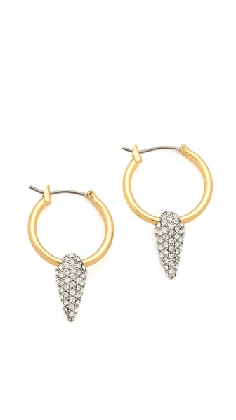Juicy Couture Pave Spike Hoop Earrings