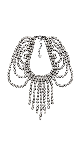 Juicy Couture Rhinestone Fringe Necklace