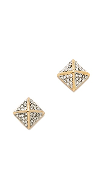 Juicy Couture Pyramid Stud Earrings