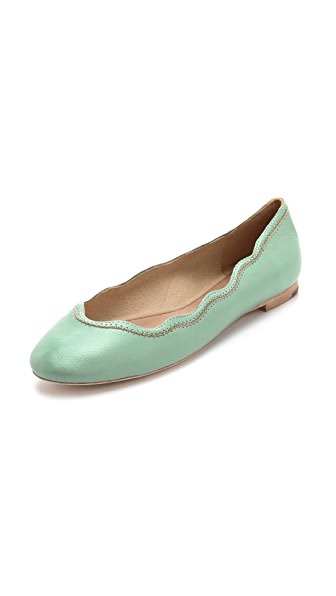 Juicy Couture Jill Scalloped Ballet Flats
