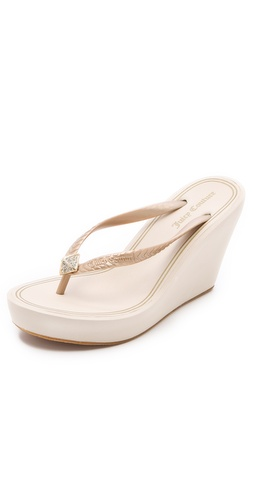 Juicy Couture Britt Wedge Flip Flops at Shopbop.com