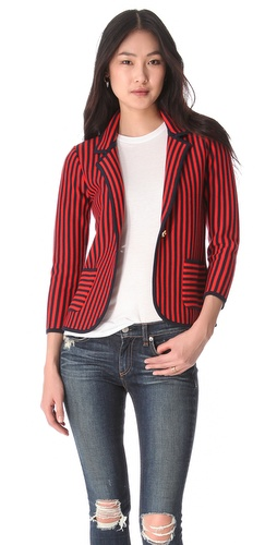 Shop Juicy Couture Vertical Stripe Blazer and Juicy Couture online - Apparel,Womens,Jackets,Blazer, online Store