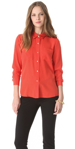 Juicy Couture Pin Dot Blouse at Shopbop.com