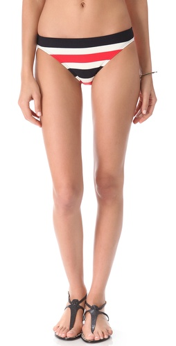 Shop Juicy Couture Port Stripe Bikini Bottoms and Juicy Couture online - Apparel, Womens, Swim, Swim,  online Store