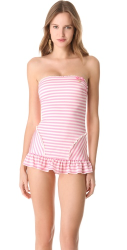 Shop Juicy Couture Boudoir Stripe Swimsuit and Juicy Couture online - Apparel, Womens, Swim, Swim,  online Store