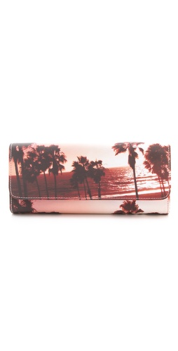 Juicy Couture Palm Tree Print Clutch