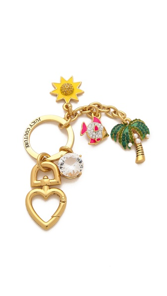 Juicy Couture Beach Charms Key Fob
