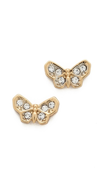 Juicy Couture Pave Butterfly Stud Earrings