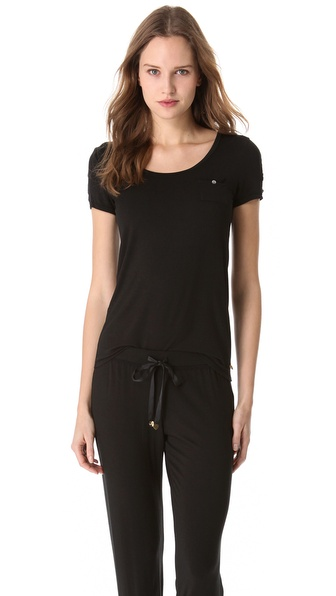 Juicy Couture Tee with Lace Trim