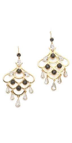 Juicy Couture Rhinestone Chandelier Earrings
