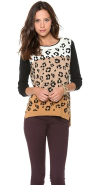 Juicy Couture Ombre Leopard Sweater