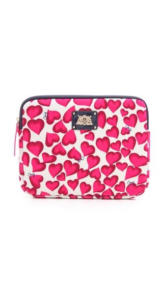 Juicy Couture Darling Hearts iPad Zip Around Case