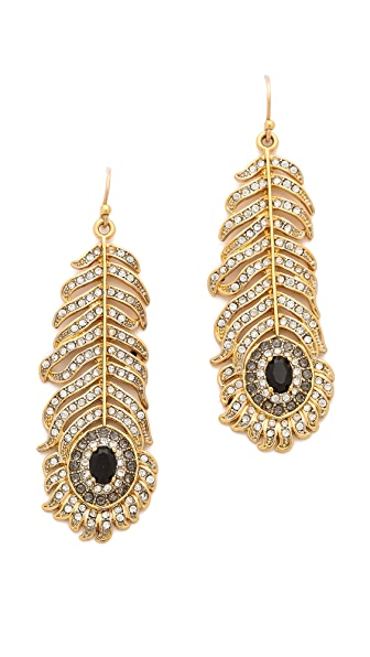 Juicy Couture Feather Drop Earrings
