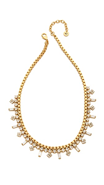 Juicy Couture Box Chain Rhinestone Necklace