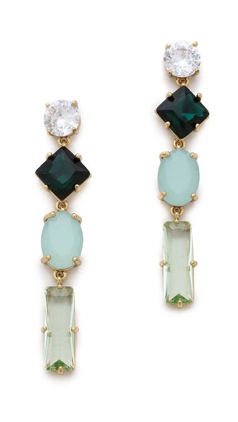 Juicy Couture Rhinestone Linear Earrings